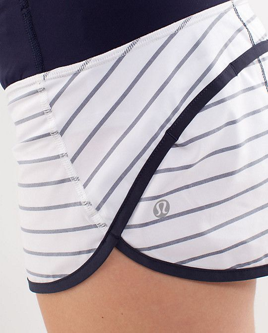 striped lulu running shorts