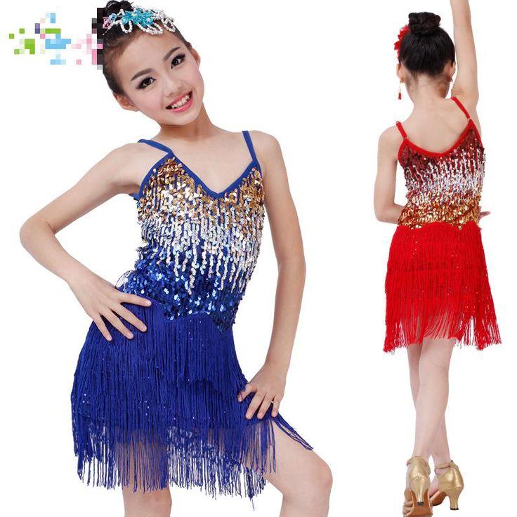 Pas cher livraison gratuite fille latine robes kid 39 s robe de sc ne de spectacle latine robe de - Robe de danse de salon pas cher ...
