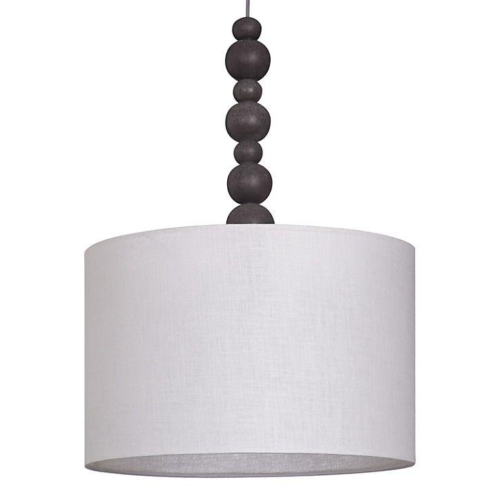 Buy John Lewis Lugano Stacked Pebble Pendant, Grey Online at johnlewis.com
