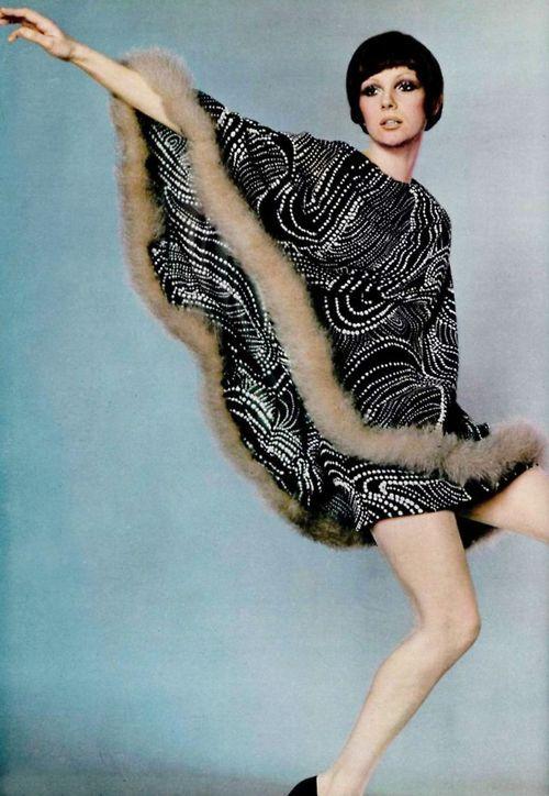 Fashion by Pierre Cardin for L'officiel magazine, 1969.