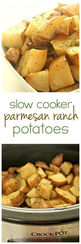 Slow Cooker Parmesan Ranch Potatoes from SixSistersStuff.com