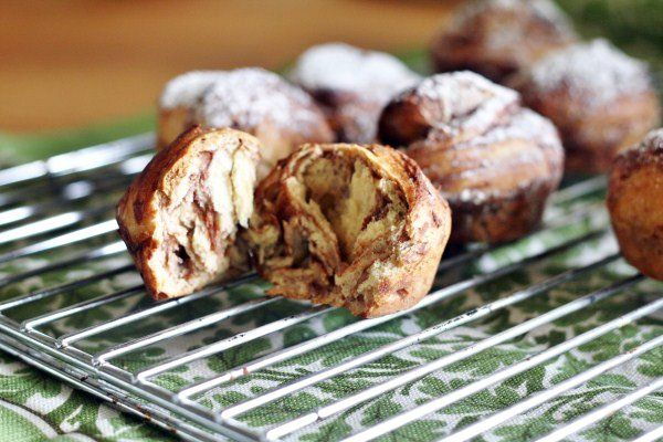 Nutella brioche scones