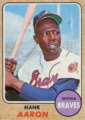 1968 Topps Hank Aaron #110 Baseball Card