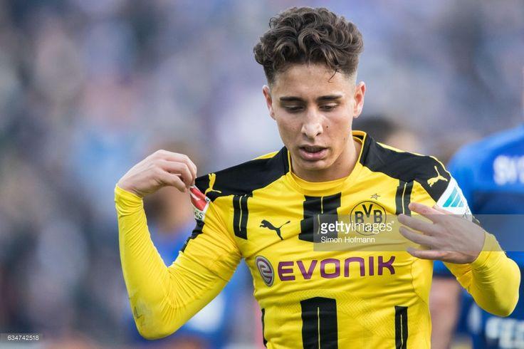 Emre Mor of Dortmund reacts during the Bundesliga match between SV Darmstadt 98 and Borussia Dortmund at Jonathan Heimes Stadion am Boellenfalltor on February 11, 2017 in Darmstadt, Germany.