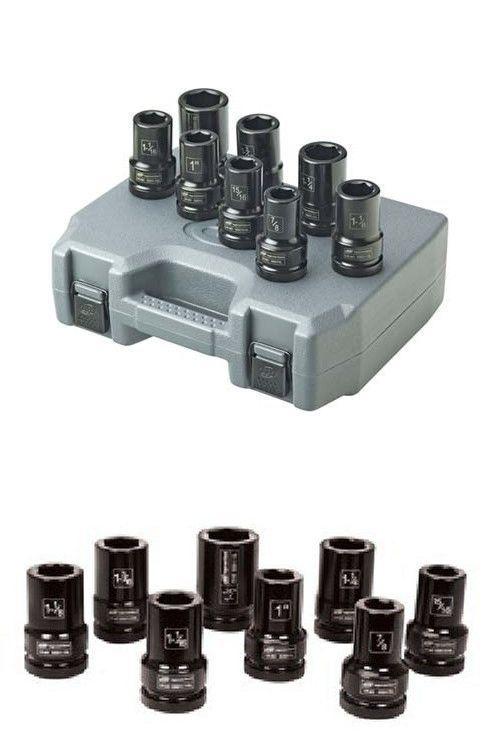 13 Piece Ingersoll Rand SK4H13LN 1//2 Drive SAE Deep Socket Set