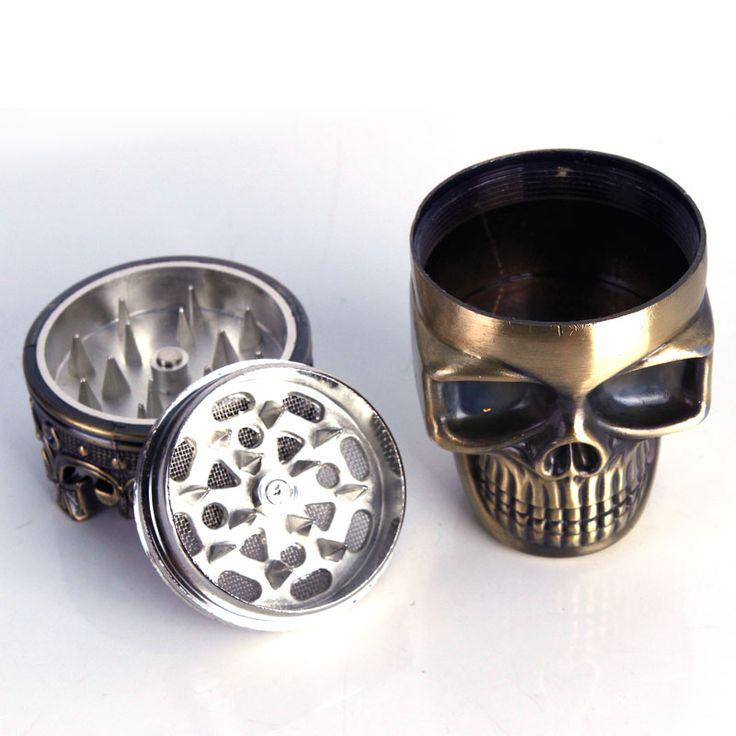 1 unids Creativo Cráneo de 3 capas Accesorios de Tubería de Cigarrillos De Tabaco Especia Hierba Grinder Humo Trituradora Muller Molino de Pipa de Fumar