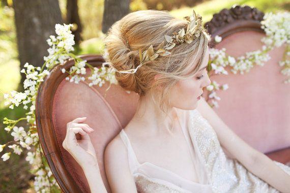 The Midas Crown  golden laurel greek  greek mythology costume cosplay goddess wedding
