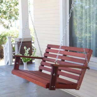 Bay Ridge Wood Porch Swing with Optional Swing Cushion