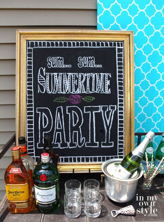 Summer-entertaining-ideas + chalkboard drawing tips
