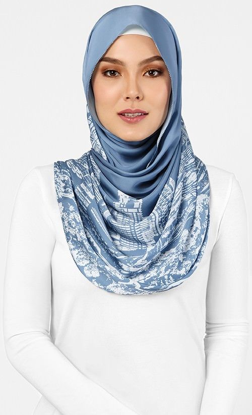 The Kuala Lumpur Scarf in Ash Blue - What's New | FashionValet