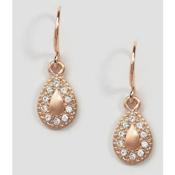 Pilgrim Rose Gold Mini Drop Gem Earrings (24 AUD) ❤ liked on Polyvore featuring jewelry, earrings, gold, gemstone earrings, pilgrim jewelry, fish hook jewelry, red gold jewelry and gemstone jewelry