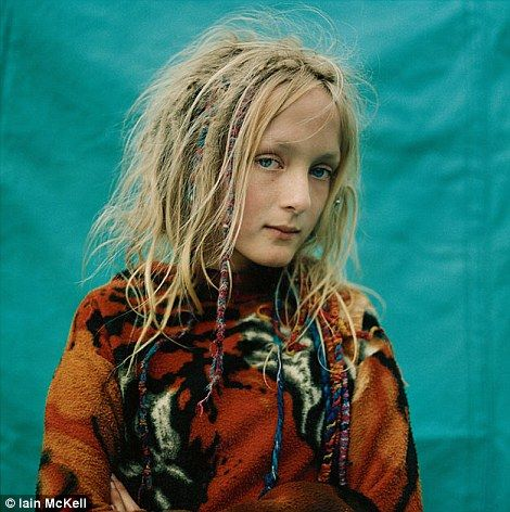 A new age traveler girl by iain mckell. love a good portrait, especially when the subject gives you a good stare! this girl is beautiful and hippy cool
