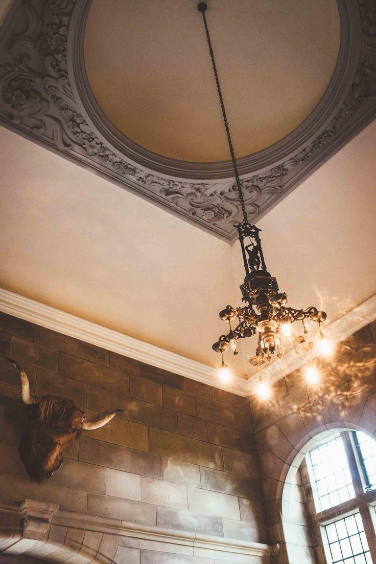 Ceiling details in Rowallan Castle hallway