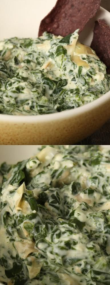 Crockpot spinach dip with three cheeses and garlic, bursting with flavor. Just throw these ingredients in the slow cooker and let the magic happen. #Vegetarian #Crockpot http://www.cheeserank.com/recipes/cheese-dip/