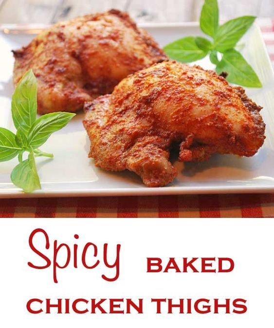 In this easy recipe for baked chicken thighs, a simple rub of olive oil and spices takes boneless, skinless chicken thighs to a whole new level. via @healthyrecipes