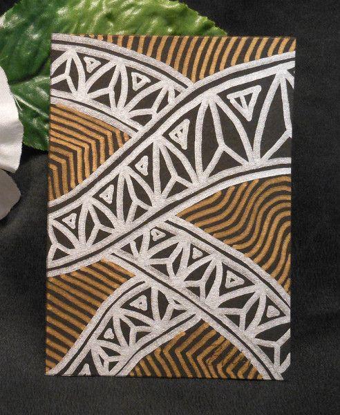 ACEO #4 Jewel Arch Tropicana Zen Tangle Art Card by Briana Blair - BrianaDragon Creations