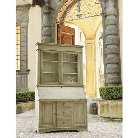 San Marino Secretary Desk with Hutch from Ballard Design. Comes in variety of colors.