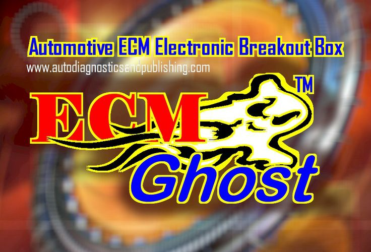 ECM Ghost Logo. The ECM-Breakout-Box connects between the car's ECM or computer and wiring harness, links via-USB to a Laptop and runs dedicated analysis software. Scanner, trigger injectors, solenoids and actuators, view all sensor signal waveforms, up to 8 channels scope, complete bi-directional control, let the unit check voltage, current and resistance on all applicable ECM-pins with the push of a button and more.