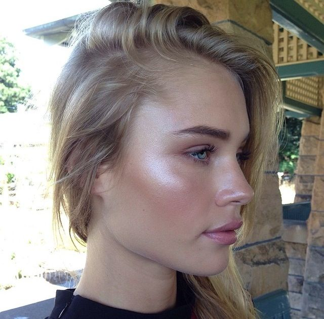 dewy makeup - Yes! Much more natural, attractive, and easier than contouring (yuck)!!
