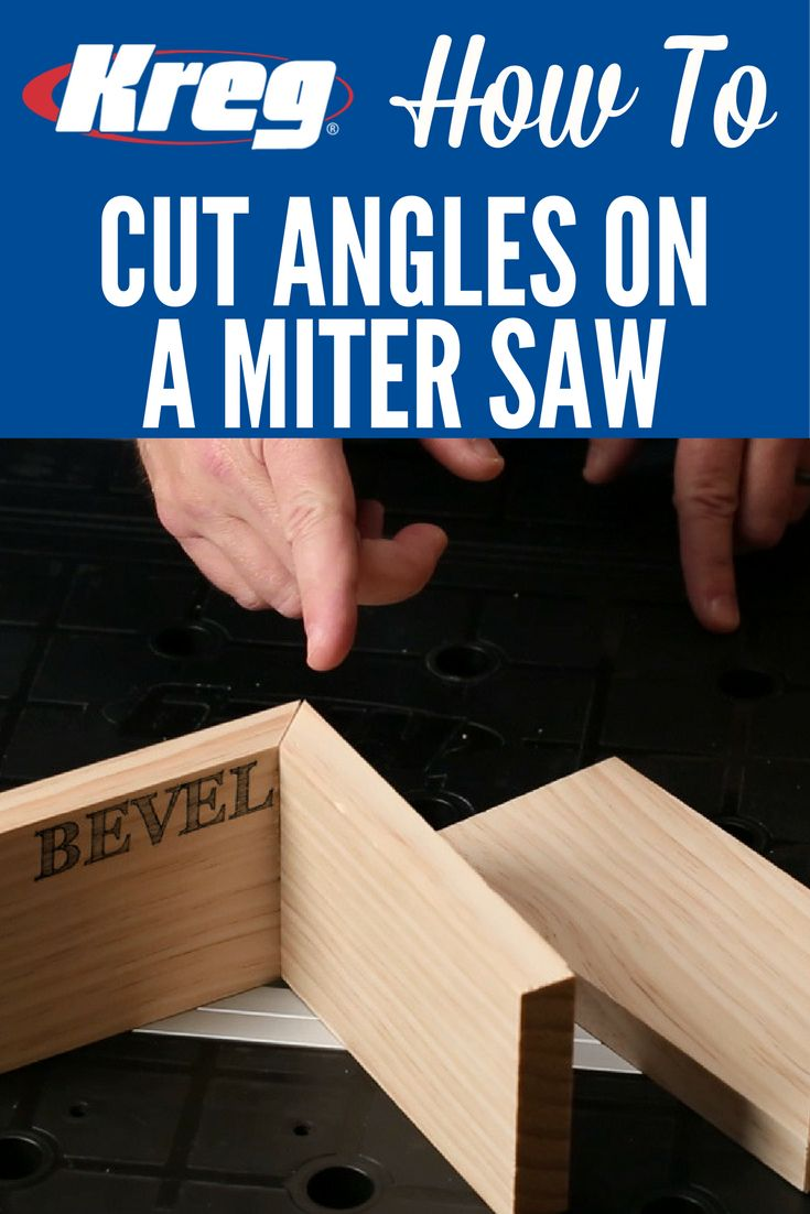 How To Cut Angles on a Miter Saw | A miter saw is great for quickly and accurately cutting pieces to length with 90° cuts. But it's also the perfect tool for easily cutting boards at other angles. Here's what you need to know to make a miter cut and a bevel cut using a miter saw.