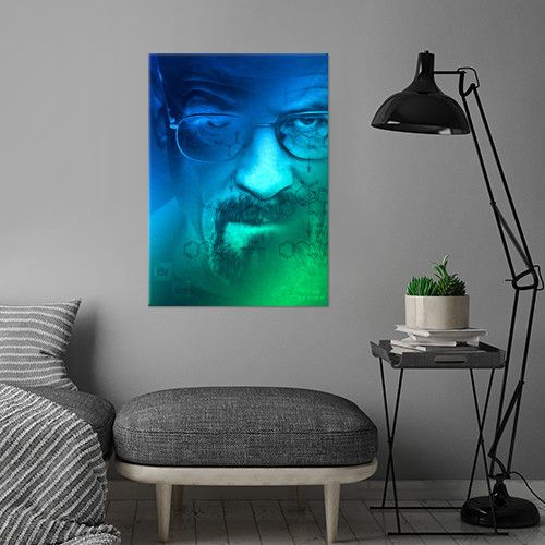 Breaking Bad Metal print Poster. Today and Tomorrow with 15% discount. Just use code: 15weekend. #breakingbadposter #sales #save #discount #breakingbad #tv #series #home #decor #gifts #walterwhite #heisenberg #displate #metalprint