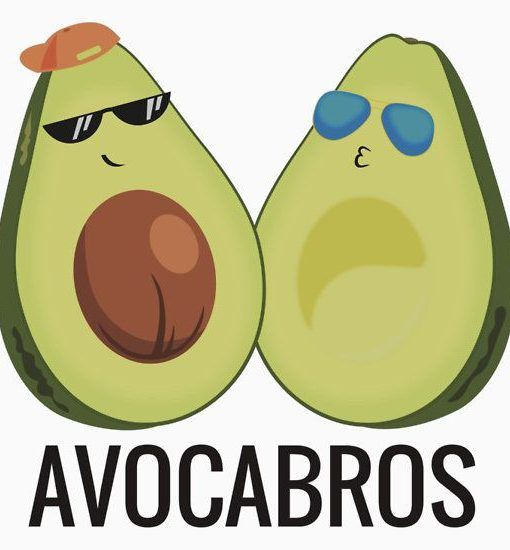 Avocabros. A funny tshirt with a pun is perfect for a best friend, BFF, or just somebody that loves avocados! Also available as a mug, pillow, bag, stationery, smartphone case, laptop skin, wall art and more!