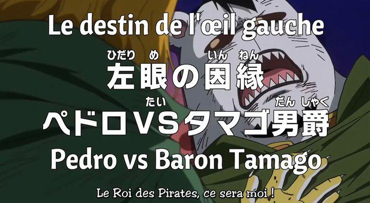 on se retrouve dans l'épisode de one piece 816 en vostfr, pedro s'engage d'un duel avec éternel rival le baron Tamago son passé impliquant Big MoM.  https://www.newsmangas.fr/one-piece-816-vostfr-pedro-vs-baron-tamago/