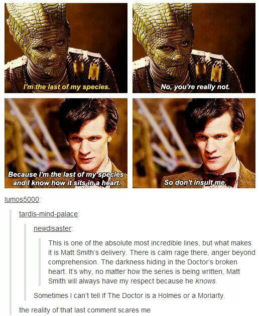 The darkness hiding in The Doctor's broken heart.