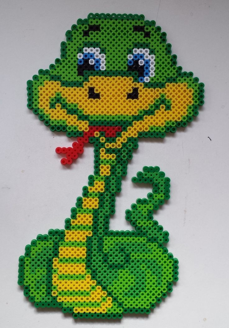 Week 10, Day 67, Animal, Snake. Perler Beads 365 Day Challenge.