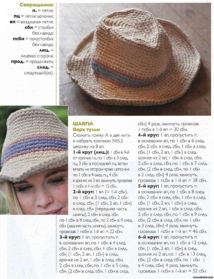 Вязаная ковбойская шляпа 3 free need translate