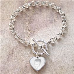 Photo Bracelet in Sterling Silver.  An elegant way to capture that special photo.