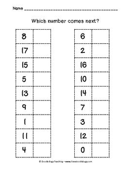 Kindergarten or beginning First Grade Review Math Sheets - Doodle Bugs Teaching - TeachersPayTeachers.com