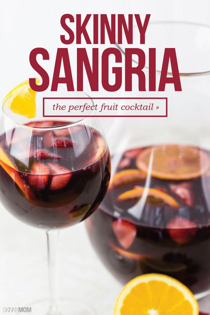 This light Sangria recipe is only 104 calories per serving. We'll drink to that!