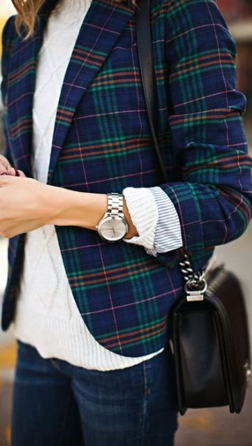 Plaid blazers - a fashion trend for fall