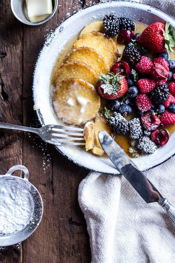 Sweet Buttered Polenta Pancakes with Fresh Summer Berries   halfbakedharvest.com @hbharvest