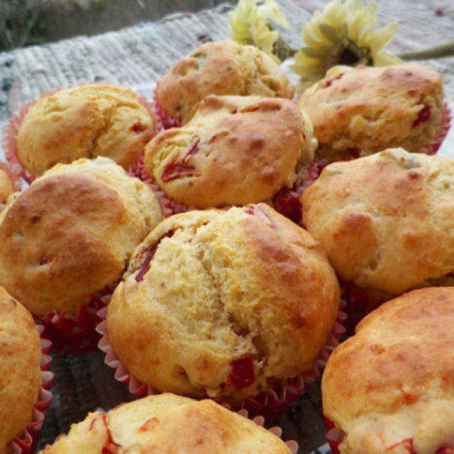 Muffins de Aceitunas, Pimientos y Queso