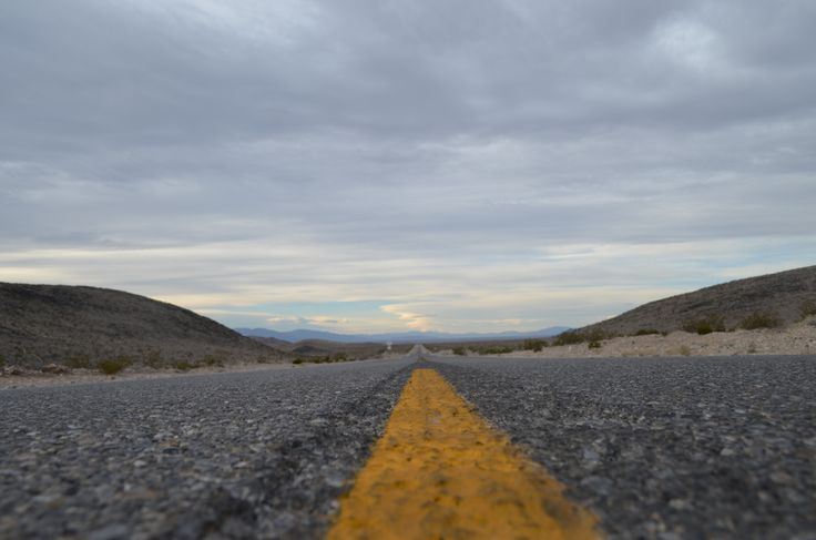 Death Valley Road - Framed Poster from Print Canvas
