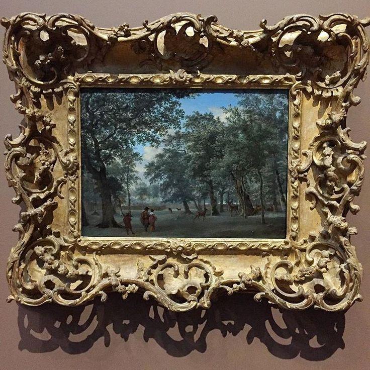 <<Oblique Viewing of the Canvas>> #507: 'Figuren in een Hertenkamp' / 'Figures in a Deerpark', Adriaen van de Velde, 1665-1668, temporarily on show at 'Adriaen van de Velde, Meester van het Hollandse Landschap', Rijksmuseum, Amsterdam #adriaenvandevelde #landschapsschilderkunst #hollandslandschap #dutchgoldenage #hollandsegoudeneeuw #rijksmuseum #rijks #deerpark #koekamp #haagsebos