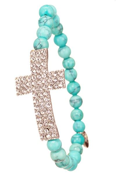 WANT!: Turquoise Cross, Style, Holy Bracelet, Jewelry, Things, Crosses, Cross Bracelets