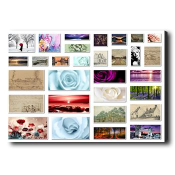 Personalized photo collage canvas, 30 grid photos