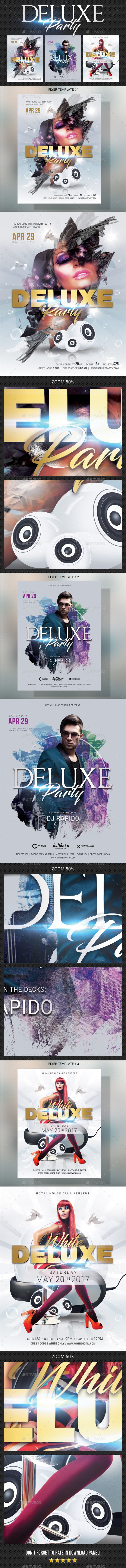 Deluxe Dj Party Flyer Bundle