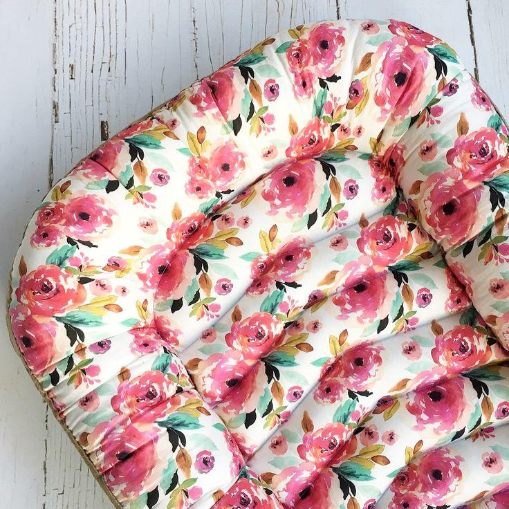 Pink floral girly nursery