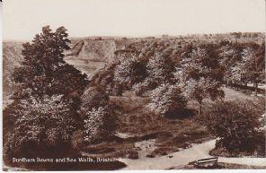Unknown British Postcard - Durdham Downs and Sea Walls, Bristol, 8