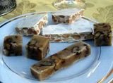 Varieties of Spanish Turron - Spanish Almond Nougat Candy.......brought to Spain by the Moors over 500 years ago. It's a traditional Christmas sweet in Spanish speaking countries.