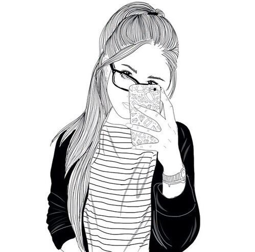 Drawinggoal Glasses Iphone Cool Tumblr Outline Tumblr Girl
