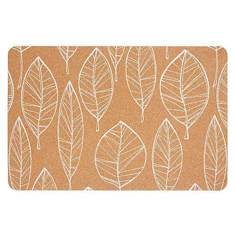 Buy John Lewis Scandi Leaf Cork Placemat Online at johnlewis.com EASY DIY using IKEA cork placemats :)