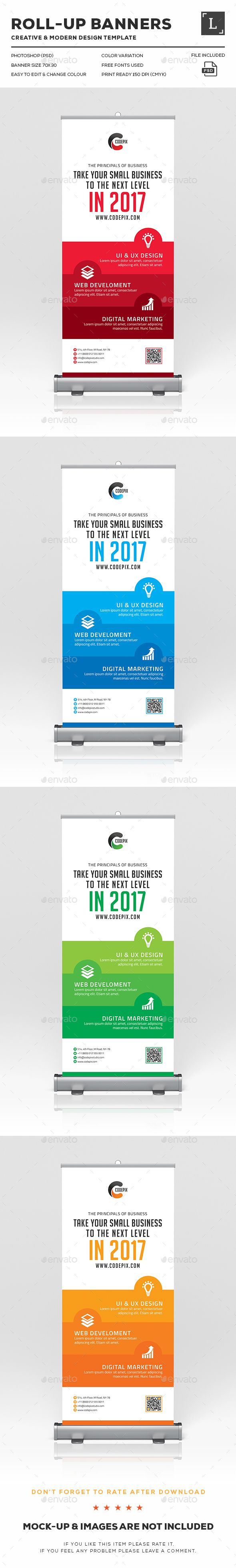 Roll-Up Banner Template PSD. Download here: http://graphicriver.net/item/rollup-banner/16616302?ref=ksioks