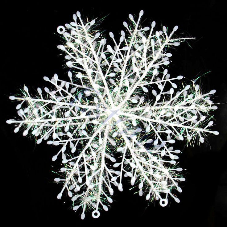 10Set of 30pcs Christmas Snowflake Hanging Decorations For Windows Decor 10cm