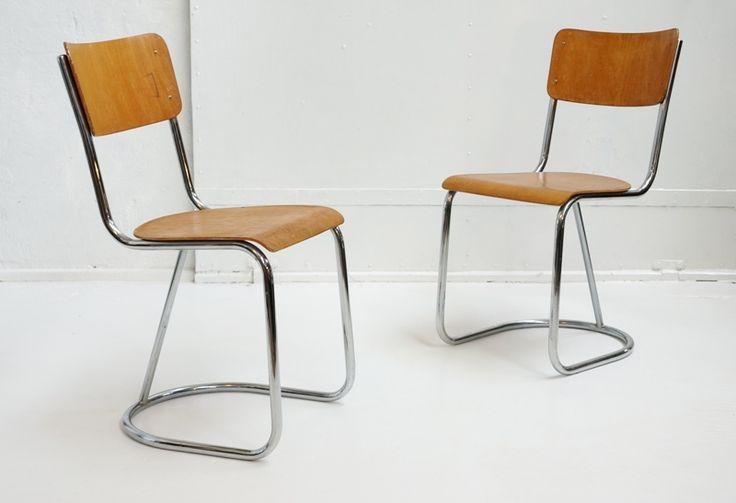 para holenderskich krzeseł Gispen, lata 30-40.