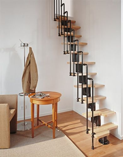 Best 20 small space stairs ideas on pinterest tiny - Tight space staircase design ...